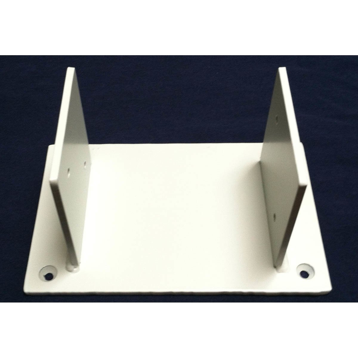 2 - Sided Wood Post Base Brackets Painted White