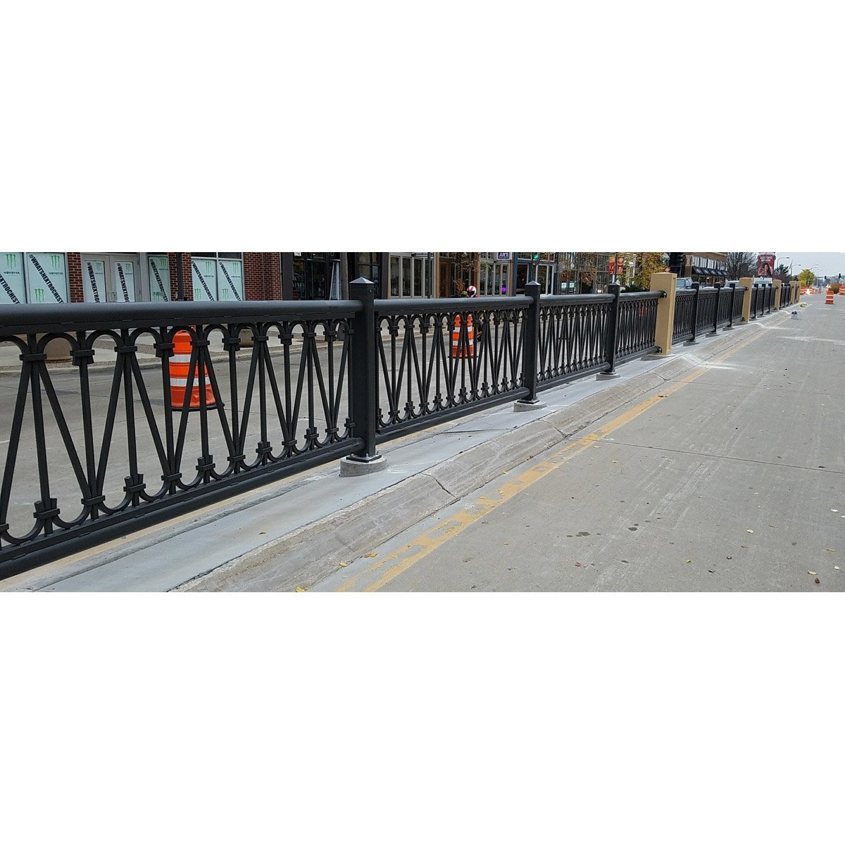 Custom Municipal Commercial Industrial Scroll Railing