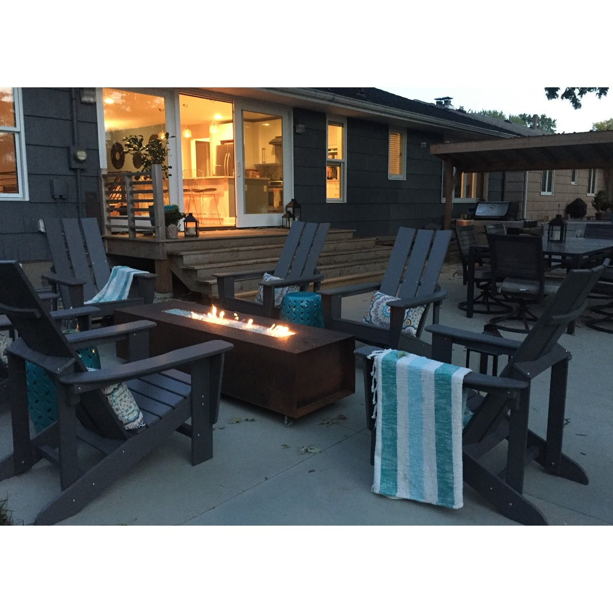 Custom Steel Gas Fire Pit