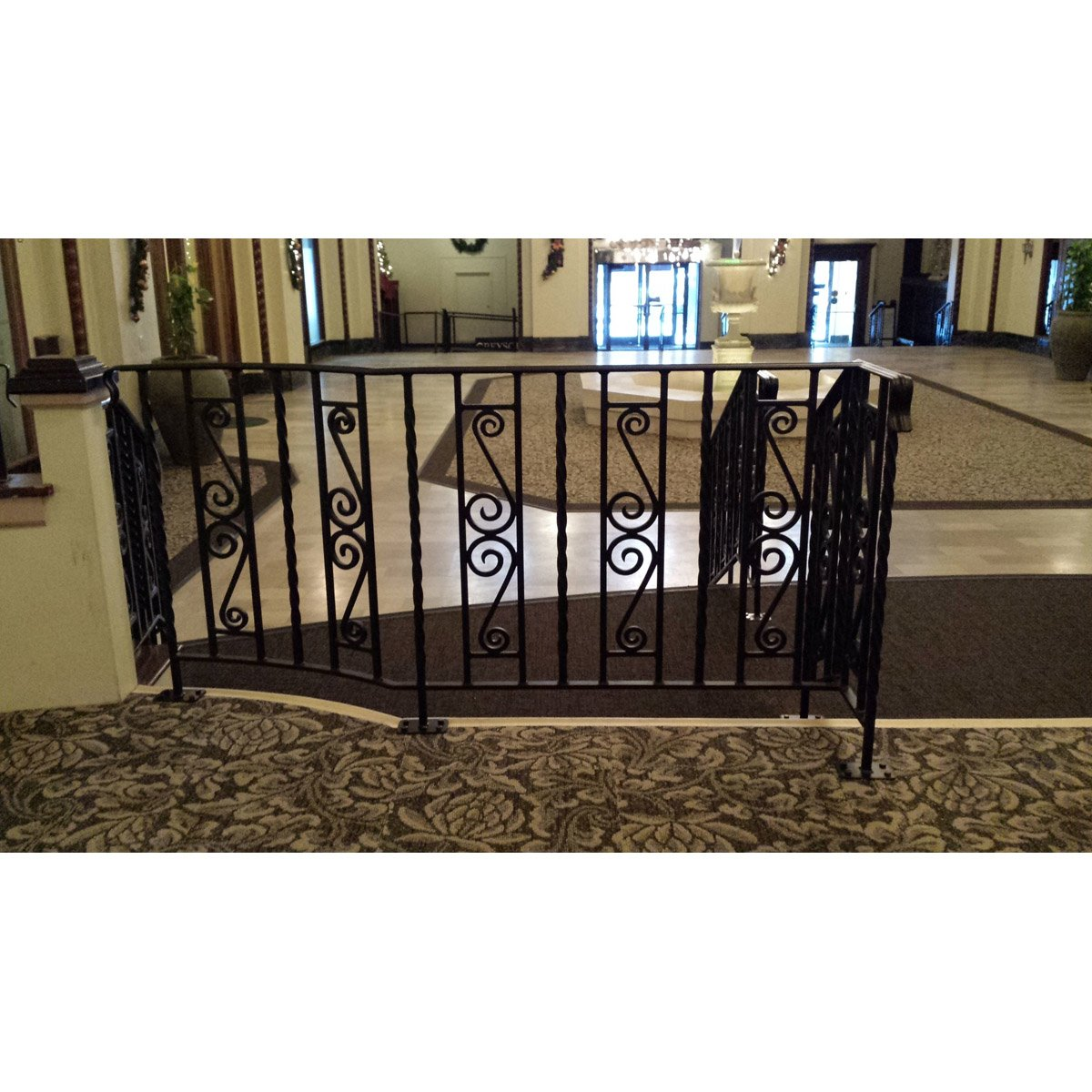 Decorative Scroll Wooden Cap Rail Railing