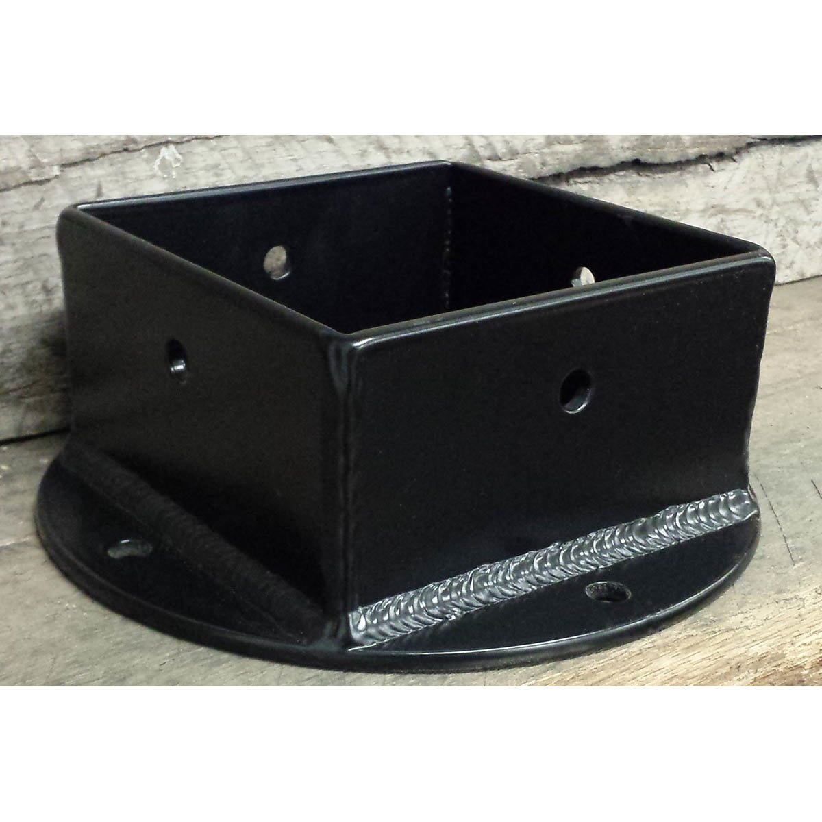4 - Sided Timber Post Brackets with Black Powder Coat