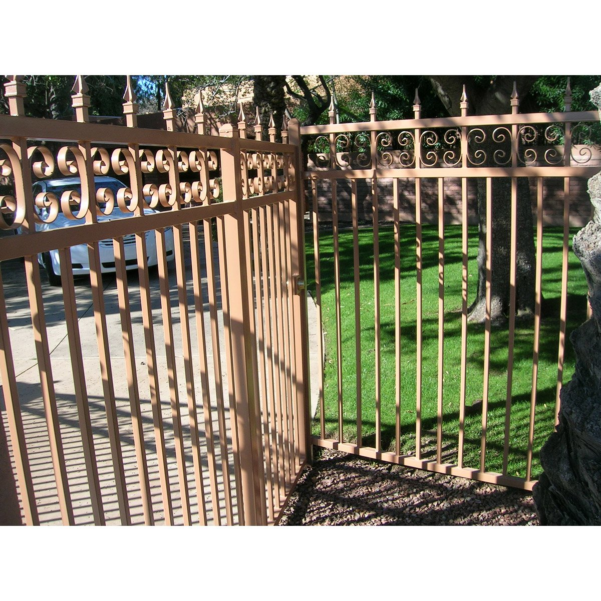 Custom Iron Fencing with Decoration