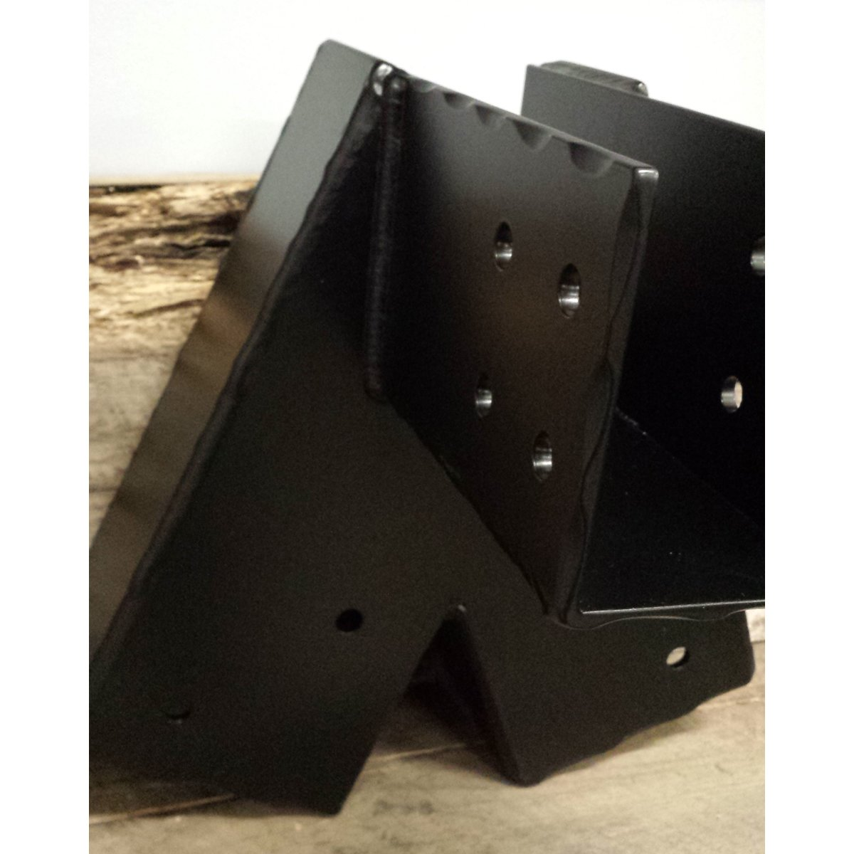 Custom Steel Swing Set Brackets Hammered and Powder Coated Black