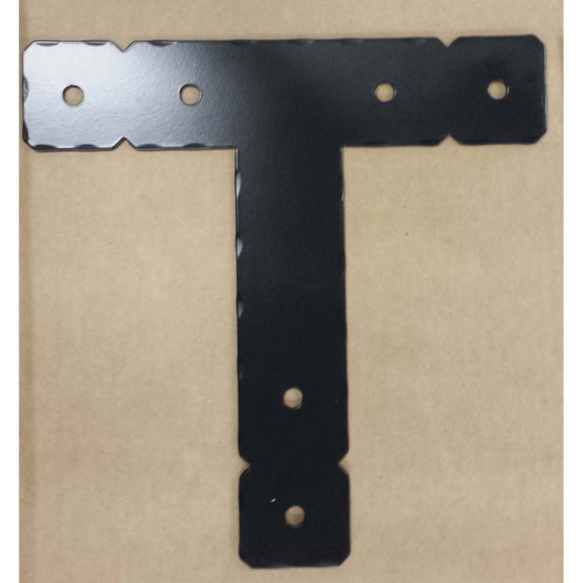 "Double Cropped Decorative ""T"" Bracket for post and Beam"